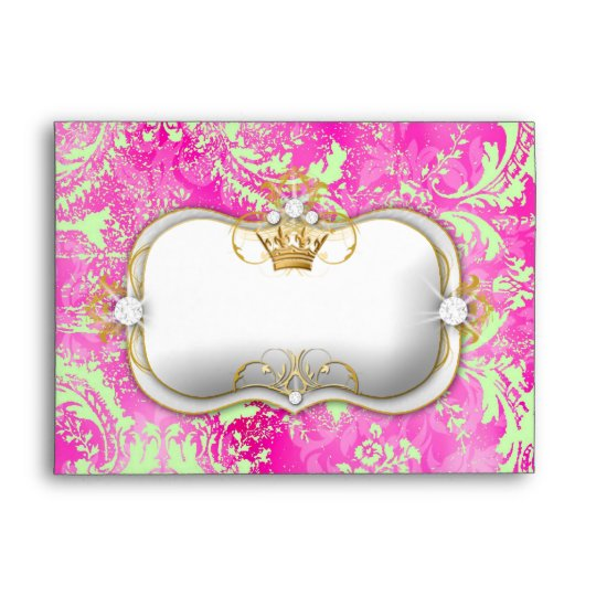 311 Ciao Bella Hot Pink Lime Vintage Chic A7 Envelope