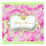 311 Ciao Bella HotPink Lime Vintage Chic Ice Paper 5.25x5.25 Square Paper Invitation Card