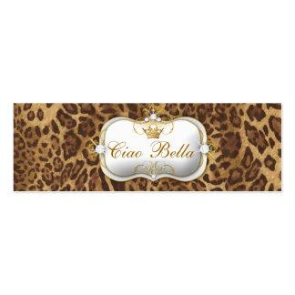 311-Ciao Bella Leopard Business Card Template
