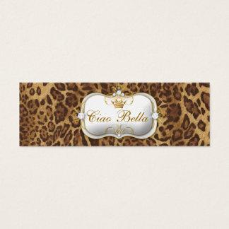 311-Ciao Bella Leopard Mini Business Card