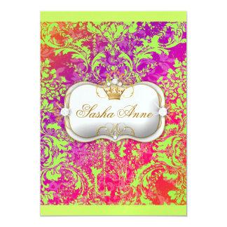 "311 Ciao Bella ""Lime Crush"" Vintage Chic 5x7 Paper Invitation Card"