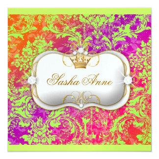 """311 Ciao Bella """"Lime Crush"""" Vintage Chic 5.25x5.25 Square Paper Invitation Card"""