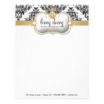 311 Ciao Bella & Lovey Dovey Damask Black WHite Letterhead