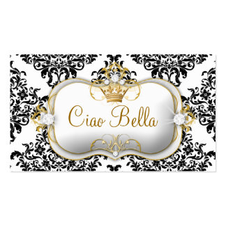 311 Ciao Bella & Lovey Dovey Damask Business Card Template