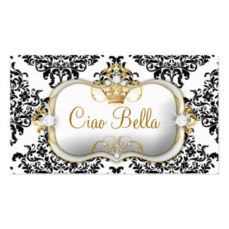311 Ciao Bella & Lovey Dovey Damask Business Card