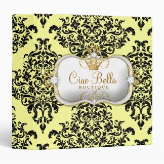 311 Ciao Bella & Lovey Dovey Damask Lemon Binder