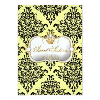 311 Ciao Bella & Lovey Dovey Damask Lemon Ice 5x7 Paper Invitation Card