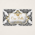 311 Ciao Bella & Lovey Dovey Damask Pearl Business Card