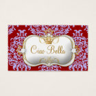 311 Ciao Bella & Lovey Dovey Damask Red Purple Business Card