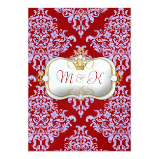 311 Ciao Bella & Lovey Dovey Damask Red Purple Card