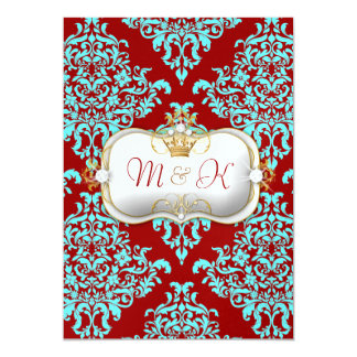 311 Ciao Bella & Lovey Dovey Damask Red Turquiose Card