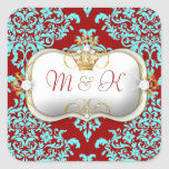 311 Ciao Bella & Lovey Dovey Damask Red Turquiose Sticker