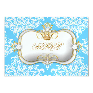 311 Ciao Bella & Lovey Dovey Damask Snow Blue Card
