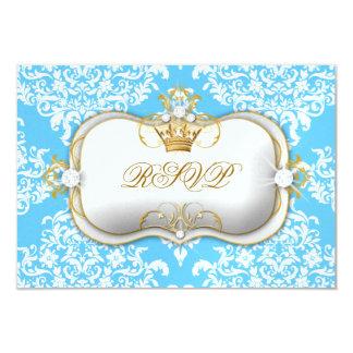311 Ciao Bella & Lovey Dovey Damask Snow Blue 3.5x5 Paper Invitation Card