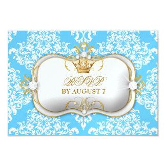 311 Ciao Bella & Lovey Dovey Damask Snow 3.5x5 Paper Invitation Card