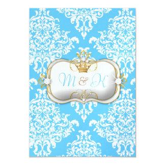 311 Ciao Bella & Lovey Dovey Damask Snow 5x7 Paper Invitation Card