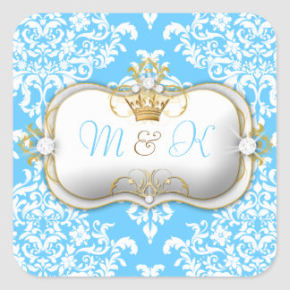 311 Ciao Bella & Lovey Dovey Damask Snow Square Sticker