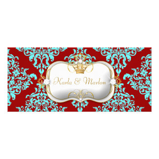 311 Ciao Bella Lovey Dovey Damask Wedding Program Personalized Rack Card