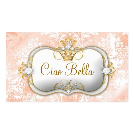 "311 Ciao Bella ""Peaches & Cream"" Vintage Chic Business Card Template"
