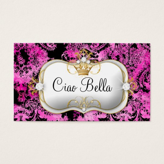 311 Ciao Bella Pink Liquorice Vintage Chic Business Card
