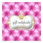 311 Ciao Bella Pink Tuft Gift Certificate Custom Announcement