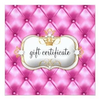 311 Ciao Bella Pink Tuft Gift Certificate 5.25x5.25 Square Paper Invitation Card