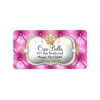 311 Ciao Bella Pink Tuft Personalized Address Label