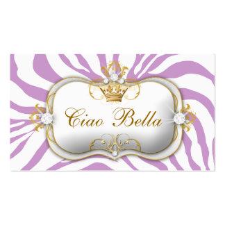 311-Ciao Bella Purple Business Card