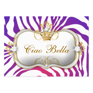 311-Ciao Bella Purple Fade Appointment Card Business Card