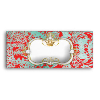 311 Ciao Bella Turquoise Rouge Vintage Chic A10 Envelope