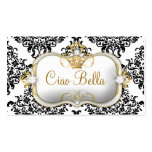 311 Ciao Bella y damasco precioso de Dovey Plantillas De Tarjetas Personales