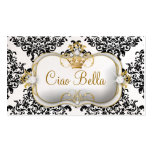 311 Ciao Bella y perla preciosa del damasco de Tarjetas De Visita