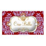 311 Ciao Bella y púrpura roja del damasco precioso Plantillas De Tarjetas De Visita