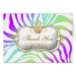 311 Ciao Bella Zebra Amethyst Rainbow Greeting Cards