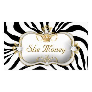 311 Ciao Bella Zebra Business Cards