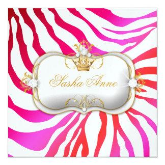 311 Ciao Bella Zebra Cherry Cake Kiss 5.25x5.25 Square Paper Invitation Card