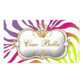 311 Ciao Bella Zebra Pink Purebred Sunset Business Card