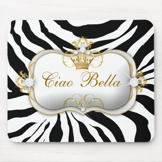 311 Ciao Bella Zebra Stripes Mouse Pad