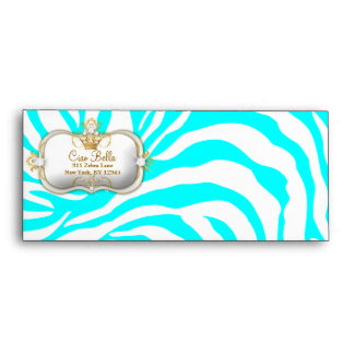 311 Ciao Bella Zebra Turquoise | Brown A10 Envelope
