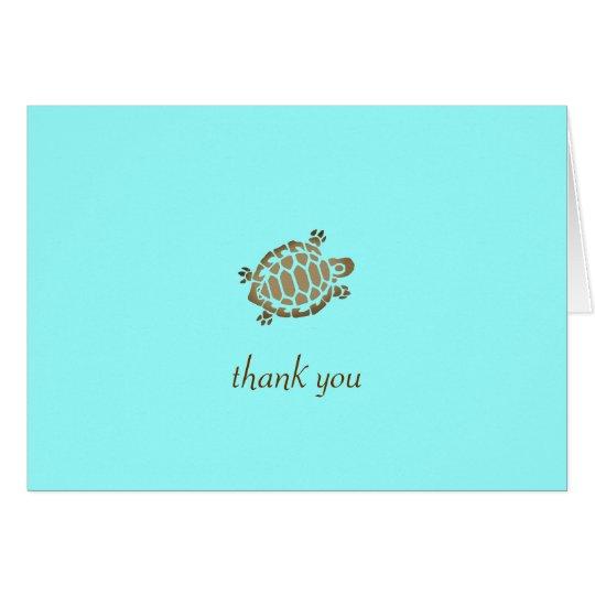 311-Coastal Seaturtle Thank you Turquoise Card
