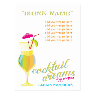 311 Cocktail Dreams Custom My Recipes Postcard