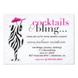 311 Cocktails & Bling Zebra Custom Announcement