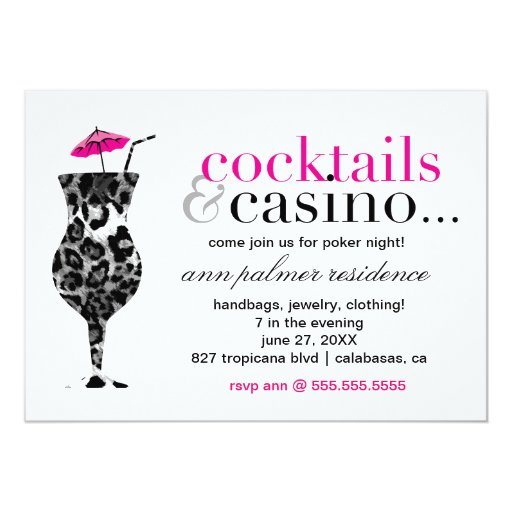 311 Cocktails & Casino Card