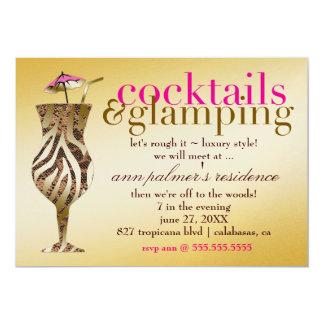 311 Cocktails & Glamping Gold Metallic Card