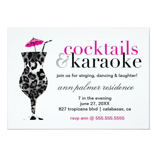 311 Cocktails Karaoke Card – Karaoke Party Invitation