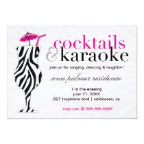 311 Cocktails & Karaoke Zebra Invitation