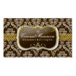 311-Coconut Macaroon Damask Double-Sided Standard Business Cards (Pack Of 100)