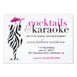 311 cócteles y cebra del Karaoke Invitacion Personal