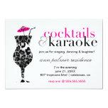 """311 cócteles y Karaoke Invitación 5"""" X 7"""""""
