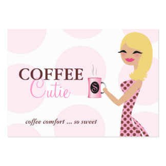 311 Coffee Cutie Blonde Wavy Large Business Cards (Pack Of 100)